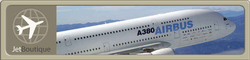 Site Logo and Airbus A380 Jet