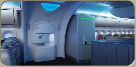 787 Dreamliner cabin interior