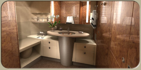 A318 Elite bathroom interior